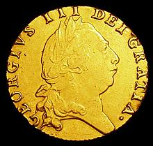 English Coins: Guinea 1793 S.3729 Good Fine, Ex-jewellery