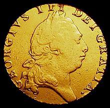 English Coins: Guinea 1793 S.3729 Fine, Ex-Jewellery