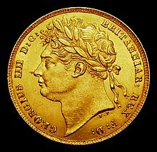 English Coins: Sovereign 1825 Laureate Head Marsh 9 Ex-Baldwins Auction 79 8/5/2013 Bentley Collecti