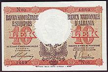 Bank Notes -  Albania 10 leke issued 1940 series N60 1460, I