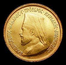 Coins -  Cyprus Half Sovereign 1966 X#M3 EF