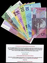 Bank Notes -  Australia (9) includes $5 banknote that should