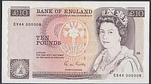 English Bank Notes -  Ten pounds Gill B354 issued 1988, a mi