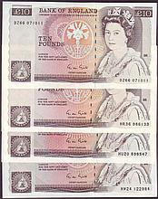 English Bank Notes -  Ten pounds Gill B354 (4) issued 1988 s