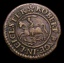 British Tokens -  17th Century Leicestershire Halfpenny 1666