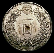 Coins -  Japan Yen Year 29 (1896) Y#A25.3 NEF toned