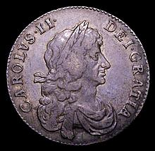 English Coins -  Halfcrown 1668 8 over 4 ESC 464 Fine with s