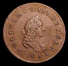English Coins -  Medalet or Pattern Halfpenny William and Ma