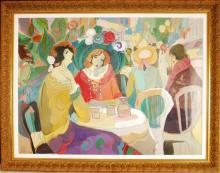 Isaac Maimon, Original Oil/Acrylic on Canvas, Sign