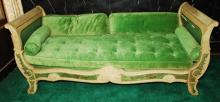 Hand Painted Antique Chaise