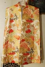 Vintage Japanese Golden Brocade Cape Kimono