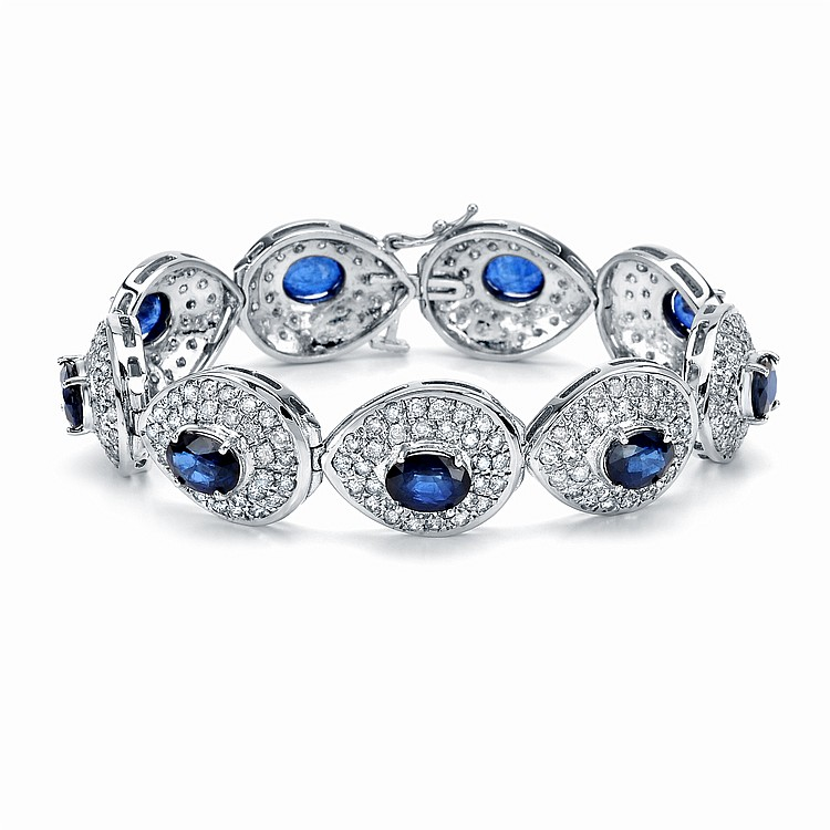21.18ct Sapphire and Diamond Bracelet