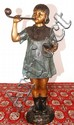 Bronze Statue Girl Blowing Bubbles 34
