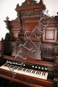 Antique Victorian Loring & Blake Palace Pump Pedal Organ