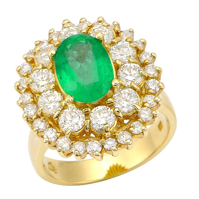 4.51 ct Emerald and Diamond Ring