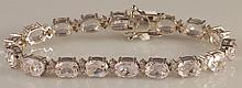 28.42 Carat Kunzite and Diamond Bracelet 18K Gold