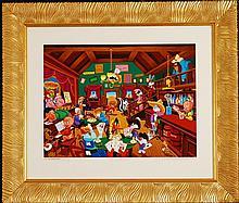Tune Saloon, 1995 by Melanie Taylor Kent, Hand Sig