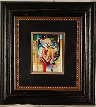 Robert Kaupelis, 1980's Original Acrylic, Signed