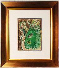 Chagall, 1960 Original Lithograph from the Bible
