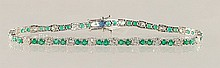 5.31ct Emerald and Diamond Bracelet in 18K WG