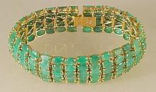 39.59 ct Emerald Bracelet