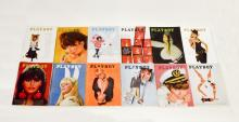 12 Vintage 1966 Playboy Magazine Collection