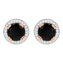 3.80ct Diamond Stud Earrings in White Gold