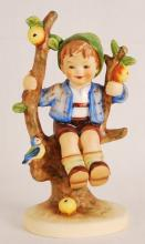 M.J. Hummel/Goebel, Boy on Apple Tree, Figurine
