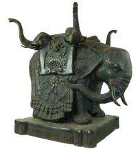 5 Headed Elephant Bronze coffee table 21
