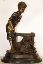 Farmer Boy Bronze Sculpture 28