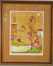 Alvin Cart Hollingsworth, Don Quixote, Pencil Sign