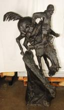 Mountain Man By Frederic Remington Monumental 5ft