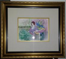 Itzchak Tarkay, Original Water Color, Hand Signed
