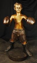 Boxing Boy Bronze Statue 42