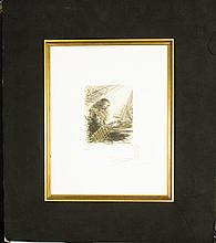 Faust Lisant by Salvador Dali, Hand Signed Etching