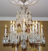 Baccarat Crystal Chandelier  -Diamants Carres