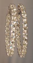 8.47 Carat Diamond Earrings in White Gold