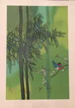 Lee, David  ; Bird on Branch ed of 300