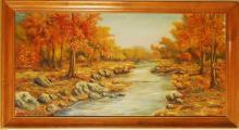 Landscape Scene, Original Oil on Canvas