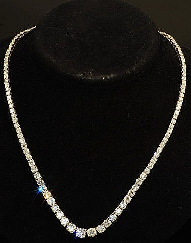 17.05ct Diamond Necklace 18K White Gold