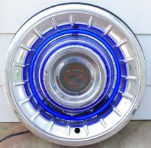 Cadillac Hubcap Neon Light Art Deco