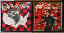 Pair Chubby Checker Album Cover / Framed