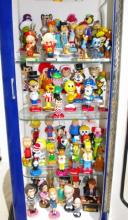 Collection of 68 Cartoon Bobbleheads