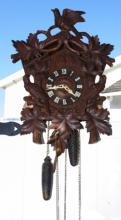 Carved German Cuckoo Clock