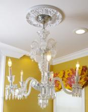5 Light Baccarat Crystal Chandelier