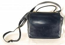 Auth Salvatore Ferragamo Shoulder Bag Leather Blue