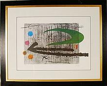 After Joan Miro, Toward the Left, Ltd Ed Lithograp