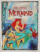 Leslie Lew, Original Sculpted Oil - Little Mermaid