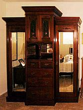 Large Antique Deco Armoire/Wadrobe