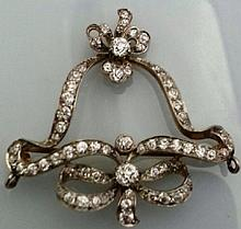 1.70ct Diamond Brooch/ Pendant set in 14K Yellow G